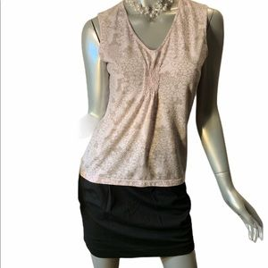 Old Navy Top Pink Stretch 83% Polyester